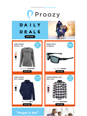 Proozy - 3 for $45 UA Long Sleeve | Oakley Sunglasses $54 | UA Sweater $34 | CWG Button Up 2 for $30