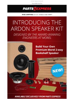 Parts Express - DIY Audiophile Sound— Build Your Own Premium Morel 2-way Bookshelf Speaker