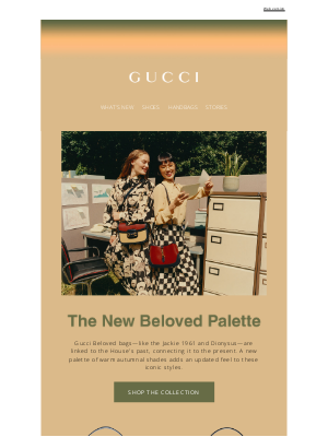 Gucci USA - Gucci Towards Autumn: The New Beloved Palette