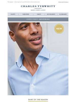 Charles Tyrwhitt - Introducing our NEW shirt of the season