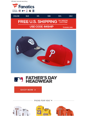 Fanatics - JUST IN - The MLB Father's Day Headwear Collection