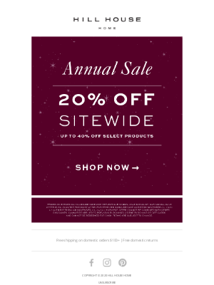 Hill House Home - OUR ANNUAL SALE IS HERE