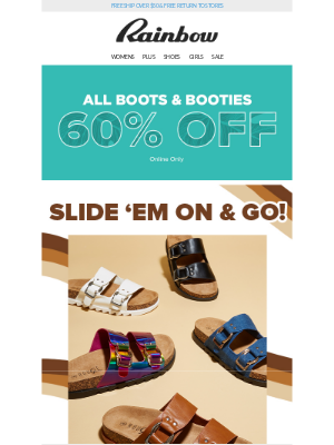 Rainbow Shops - OMG! 😱 You NEED these slides! 👡✨ Starting at $12.99
