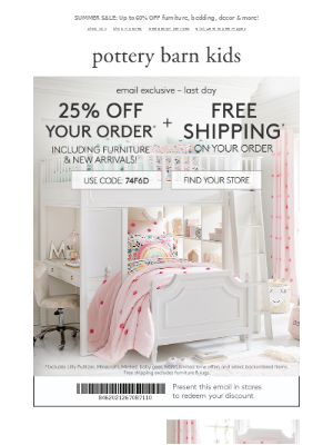 This calls for a room makeover! 25% OFF EVERYTHING ends tonight!