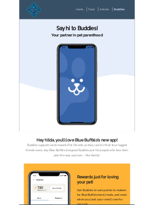 Blue Buffalo - You're invited to join Buddies, our new app!