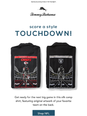 Tommy Bahama - Are You Ready for Kickoff?