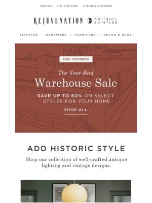 Rejuvenation - Ends soon: Shop special savings on Antiques & Vintage