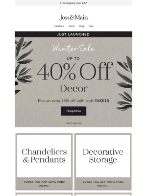 Joss & Main - JUST LAUNCHED | Décor clearance »