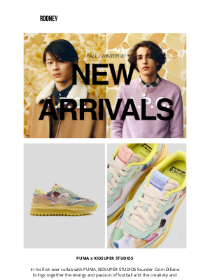 Rooney Shop - HELLO FALL : NEW ARRIVALS FROM PUMA, A.P.C, COMMON PROJECTS...