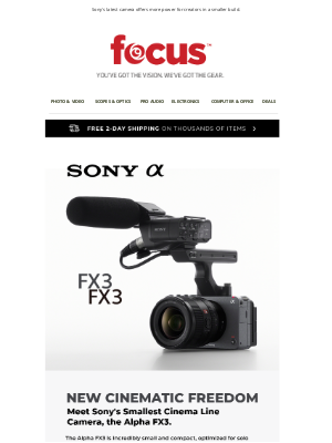 Focus Camera - Introducing the FX3 | Sony's Smallest Cinema Line Camera + NEW Rode Wireless GO II