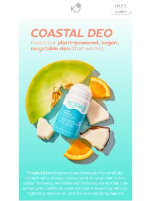 Kopari Beauty - Scent Story: Coastal Deo Edition🍊🍈