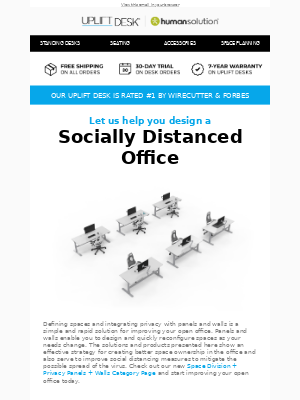 Uplift Desk - Create the Socially Distanced Office You Need