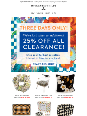 MacKenzie Childs LLC - Sale is on! Extra 25% off clearance