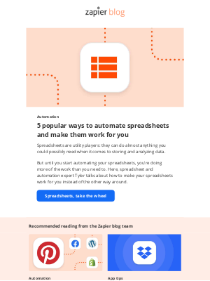 Zapier - 5 ways to automate your spreadsheets
