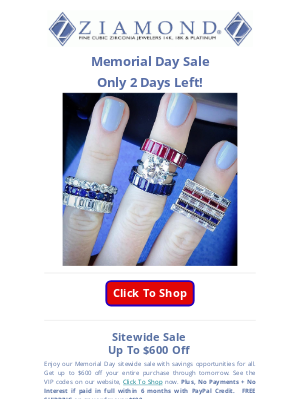 Ziamond - 🇺🇸Sitewide Memorial Day Sale🇺🇸