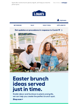 Lowes Canada - Easter brunch ideas just in time.