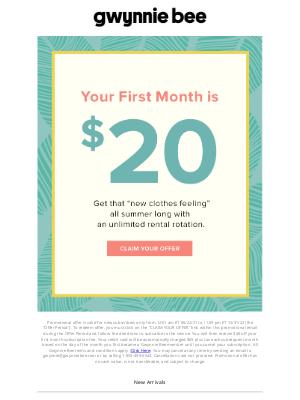 Gwynnie Bee - $20 will get you a new summer wardrobe