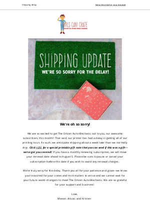 Girls Can Crate - *July Shipping update* GIRLS CAN! CRATE
