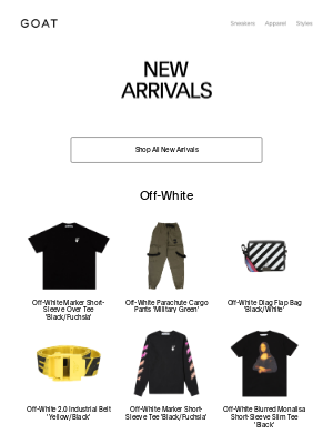GOAT - NEW IN: Off-White, CDG, Vlone and more