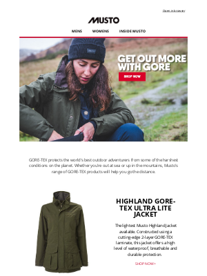 Musto UK - Take adventures further with GORE-TEX