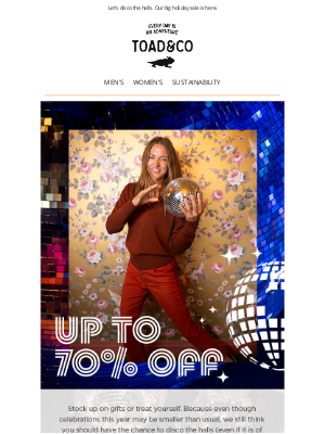 Toad&Co - Up to 70% Off Starts Now! 🍾🍰