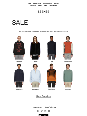 Top Sweaters on Sale, Up to 70% Off