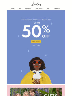 Joules (US) - Up to 50% off your favourite styles. Yippee!