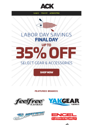 Austin Kayak - Last Chance! Up to 35% OFF || Engel, FeelFree, YakGear + More!