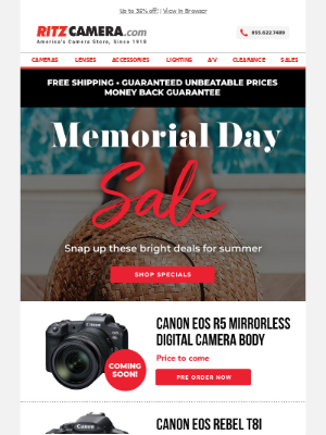 Snap up the savings 📸🌞Memorial Day Specials