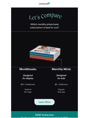 Chatbooks - Mini vs. Monthbooks... but everyone is a winner! :trophy:
