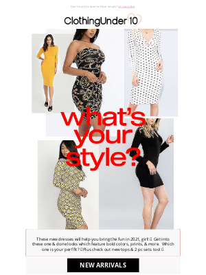 ClothinguUnder10 - What's your 👗 style?