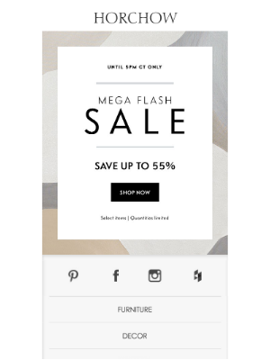 Horchow Mail Order - Mega Flash Sale! Up to 55% off