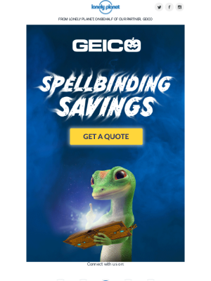 Lonely Planet - Stir Up Savings with GEICO