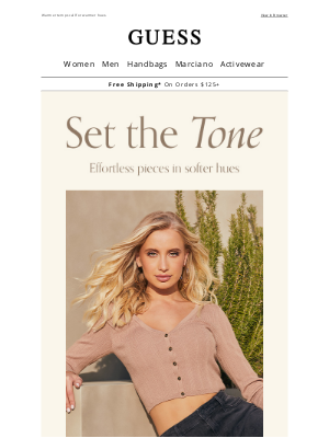 GUESS - Trending: Neutrals for Spring