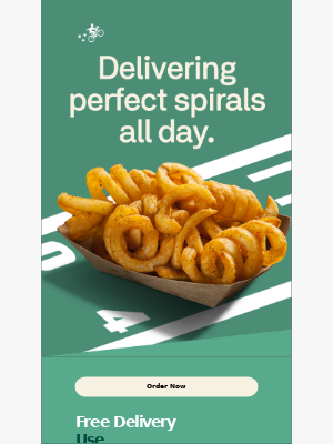 Free delivery for your french fry dreams