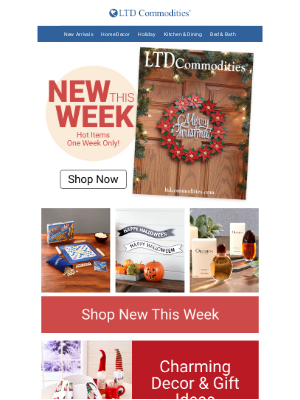 LTD Commodities - New Monday! New Items!