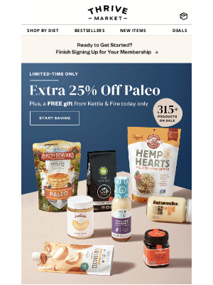 Extra 25% off Paleo + FREE gift 🙌