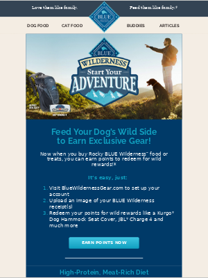 Blue Buffalo - We'll help you gear up for your next adventure with Rocky!