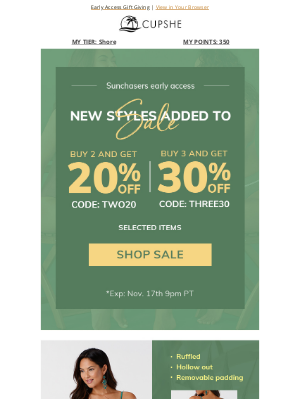 Cupshe - Up to 30% Off | New arrivals added