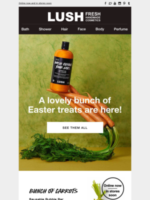 Lush (UK) - This just in: Easter