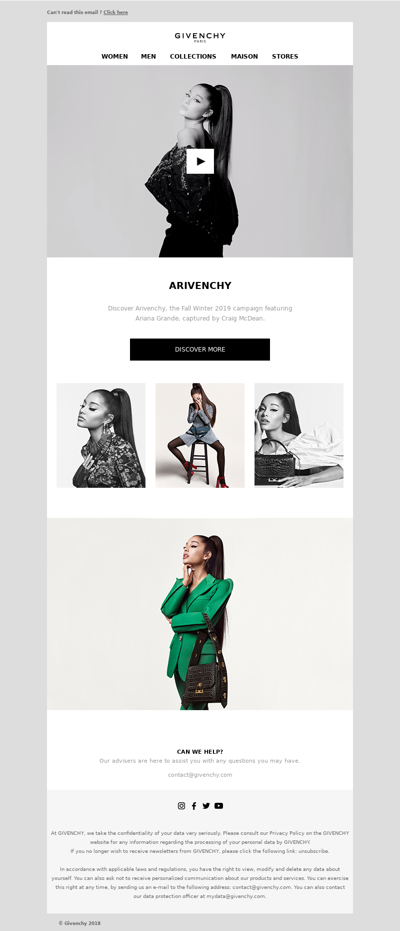 Givenchy - The FW19 campaign starring Ariana Grande