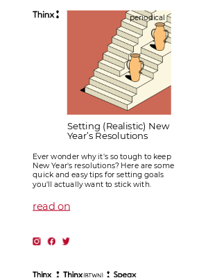 THINX - Sick of setting New Year's resolutions you can't keep?
