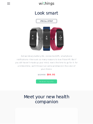 Pulse HR plus an extra band for only $99.95