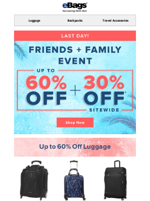 🏝️ FINAL DAY: UP TO 60% OFF 🏝️