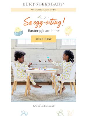 Burt's Bees Baby - Easter PJs are sweet as a peep!