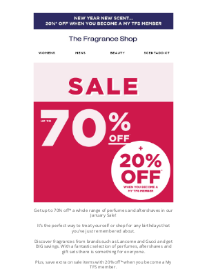 The Fragrance Shop UK - Hundreds of fragrances in our January Sale 💥