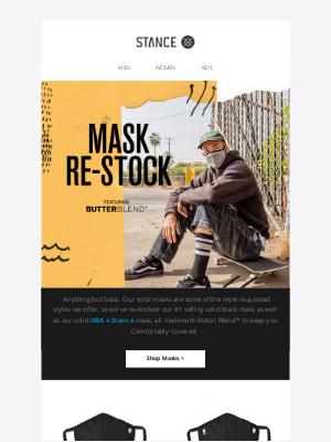 Stance - Solid Masks Are Back