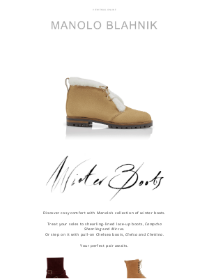 Manolo Blahnik - Cosy and Chic: Manolo's Winter Boots