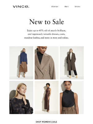 Vince - Just Added to Sale: Head-Turning Coats and Dresses