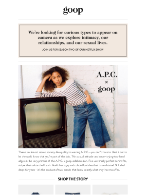 Goop - easy as A.P.C.